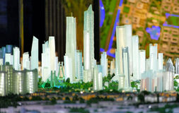 Model of a city architecture, buildings and park model Royalty Free Stock Photography