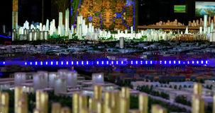 Model of a city architecture, buildings and park model Stock Photos