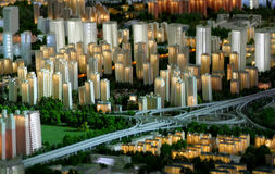 Model of a city architecture, buildings and park model Stock Image