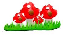 Model clay mushroom stock photos