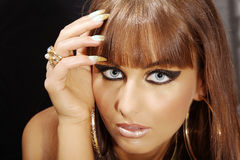 Model in Cleopatra style Royalty Free Stock Photo