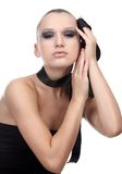 Model with cloth ribbon Stock Photography