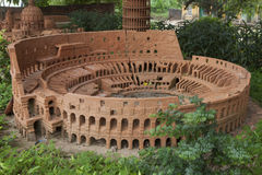 Model of Colosseum or Coliseum made from earthenware and displayed at Thanh Ha earthenware village, Hoi An ancient town Royalty Free Stock Images