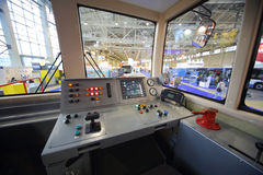 Model of control panel subway car at the Second  Congress and Exhibition ExpoCityTrans-2012 Royalty Free Stock Photo