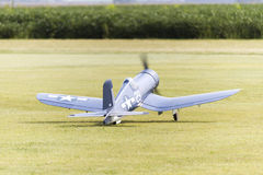 Model Corsair Plane Taking Off Royalty Free Stock Images