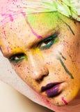 Model with creative makeup Royalty Free Stock Photos