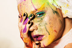 Model with creative makeup Stock Images