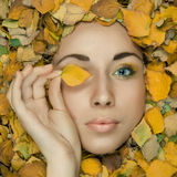 Model with creative makeup Royalty Free Stock Photography