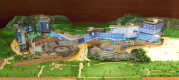 Model of cyberport Royalty Free Stock Images