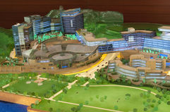 Model of cyberport close up shot Royalty Free Stock Image