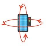 model 3d 360 en ligne de smartphone de vr Image libre de droits