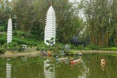 Model of Dali Pagodas in Yunnan at Shenzhen Stock Photos