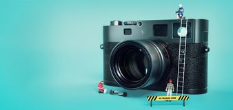 Model de reparatiecamera van ` s Royalty-vrije Stock Fotografie