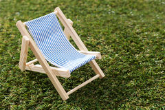 Model Deck Chair On Grass Royalty Free Stock Image