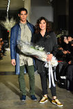 Model and designer Lily Montes walk the runway at the ANTINOO Menswear FALL 2017 Metamorphosis Collection Stock Photo
