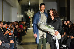 Model and designer Lily Montes walk the runway at the ANTINOO Menswear FALL 2017 Metamorphosis Collection Stock Photography