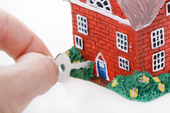 Model of a detached house Stock Image
