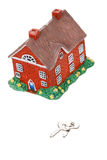 Model of a detached house Royalty Free Stock Image