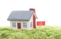 Model of  detached house Royalty Free Stock Photos