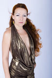 Model in diaphanous dress Royalty Free Stock Photography