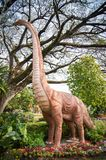 Model dinosaur. In the park royalty free stock photo
