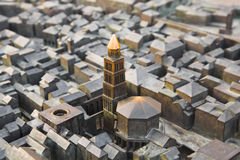 Model of Diocletian palace in Split, Croatia Royalty Free Stock Photo