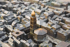 Model of Diocletian palace in Split, Croatia Royalty Free Stock Image