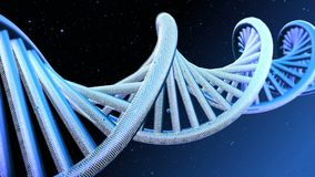 Model of DNA strands. Abstract model of DNA strands royalty free stock image
