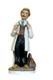 Model doctor. China model of doctor with medical bag and stethescope Royalty Free Stock Photo