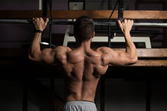 Model Doing Pull Ups Best Back Exercises Stock Photography