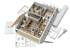 Model dom ilustracja wektor