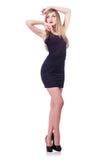 Model dragende modieuze kleding Stock Foto's
