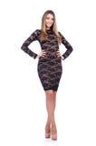 Model dragende modieuze kleding Stock Afbeeldingen