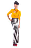 Model dragende modieuze kleding Stock Afbeelding