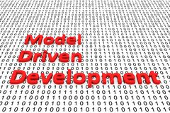 Model driven development. In the form of binary code, 3D illustration Royalty Free Stock Photo