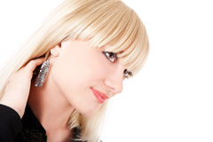 Model with earrings Stock Image