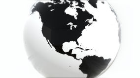 A model of the Earth. 3D Earth Royalty Free Stock Photos