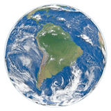 Model of Earth facing South America Stock Images