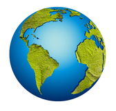 Model of Earth globe royalty free illustration