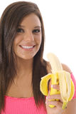 Model eating a healthy snack. Shot of a model eating a healthy snack Royalty Free Stock Photo