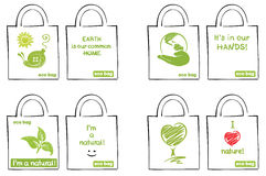 Model for ecological bags Stock Image