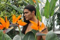 Model in een serre Royalty-vrije Stock Fotografie