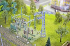 Model of electric substation Stock Photos
