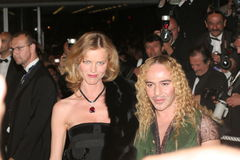 Model Eva Herzigova and designer John Galliano Stock Photo
