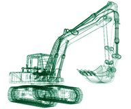 Model excavator. 3D rendered Illustration model excavator Royalty Free Stock Image