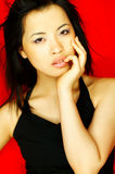 Model expressions. Sexy asian girl model expressions Stock Photo