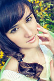 Model face with spring make-up Royalty Free Stock Image