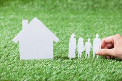 Model of family and house Royalty Free Stock Photos