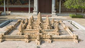 Model of famous Angkor Wat stock video