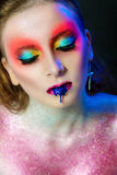 Model with a fantasy make-up Stock Image